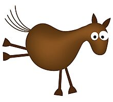 Funny horse cartoon Photographic Print