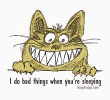 Cat Does Bad Things When You Sleep Humor Baby Tee