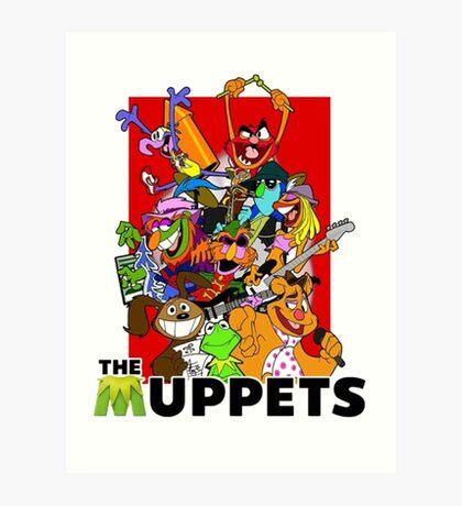 The Muppets Cartoon Art Print