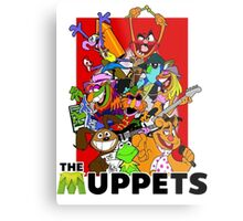 The Muppets Cartoon Metal Print