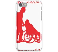 i'm not disabled, i'm just plain lazy iPhone Case/Skin