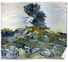 Vincent van Gogh The Rocks Poster