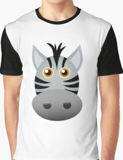Cute Zebra face cartoon Graphic T-Shirt