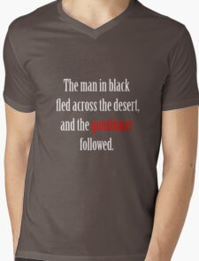 The man in black and the Gunslinger Mens V-Neck T-Shirt