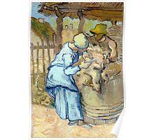 Vincent van Gogh The Sheep-Shearer Poster