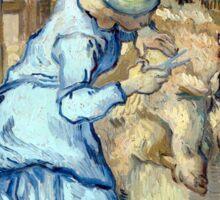 Vincent van Gogh The Sheep-Shearer Sticker
