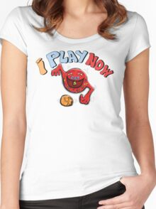 CAT BALL GAME Women's Fitted Scoop T-Shirt