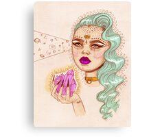 Crystal girl Canvas Print