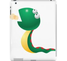 Cartoon green snake character iPad Case/Skin
