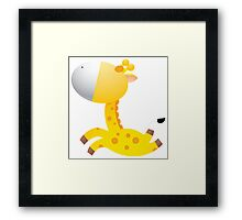 Cartoon giraffe character Framed Print