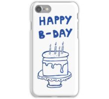 Happy birthday card with cake  iPhone Case/Skin