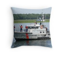 Coast Guard at work Throw Pillow