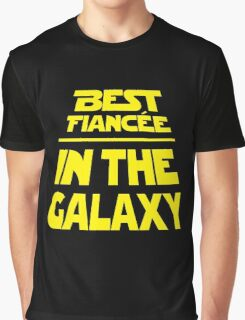 Best Fiancee in the Galaxy - Slanted Graphic T-Shirt