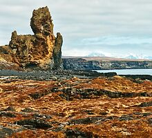 Londrangar and Lava Fields by Caleb Ward