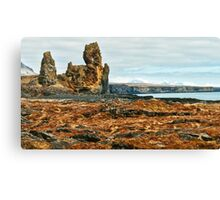 Londrangar and Lava Fields Canvas Print
