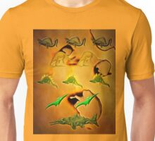 An Old Parchment Containing Illustrations of Dinosaurs Unisex T-Shirt