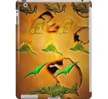 An Old Parchment Containing Illustrations of Dinosaurs iPad Case/Skin