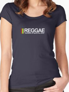 REGGAE - THE MUSIC OF BEAUTIFUL SOUL Women's Fitted Scoop T-Shirt