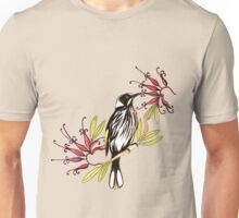Honeyeater bird with grevillea flowers Unisex T-Shirt
