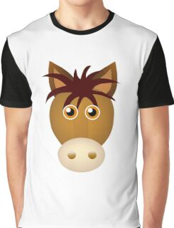 Horse face cartoon Graphic T-Shirt