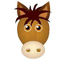 Horse face cartoon Photographic Print