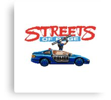 STREETS OF RAGE POLICE SUPPORT  Canvas Print