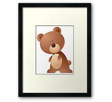 Cartoon teddy character Framed Print