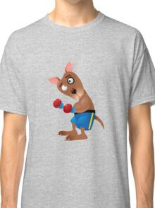 Cartoon boxing dog character Classic T-Shirt