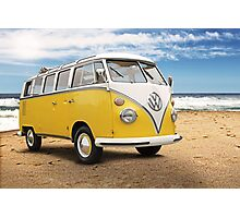 Vintage VW Samba Bus Photographic Print