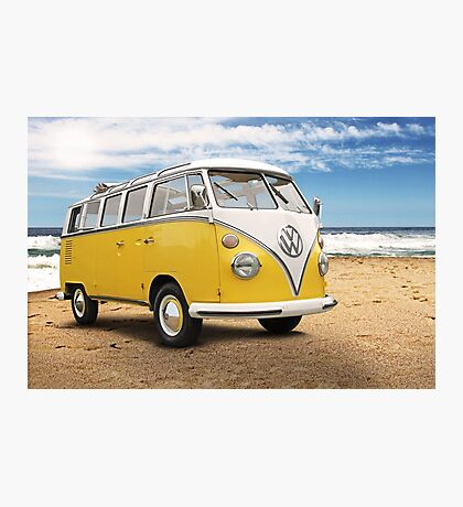 Vintage VW Samba Bus Photographic Print