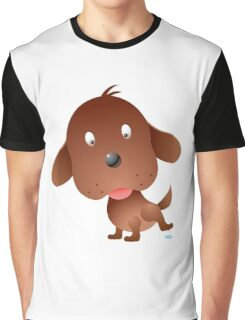 Cartoon puppy character Graphic T-Shirt