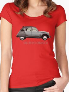 Citroën 2CV Charleston grey Women's Fitted Scoop T-Shirt
