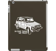 In one Thing we trust (white) iPad Case/Skin