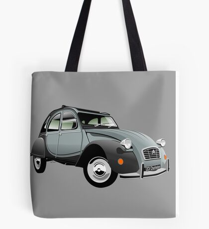 Citroën 2CV Charleston grey Tote Bag
