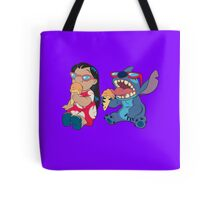 Lilo and Stitch eating Tote Bag