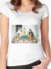 Leisure time Women's Fitted Scoop T-Shirt