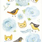 Springtime Birds and Cats by Ryan Conners