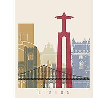Lisbon skyline poster Photographic Print