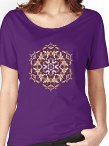 Mandala of bordo and yellow colors Women's Relaxed Fit T-Shirt