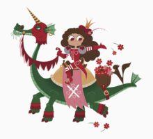 St Valentines On His Dragon Kids Tee