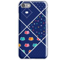 Chromatic cats patchwork iPhone Case/Skin