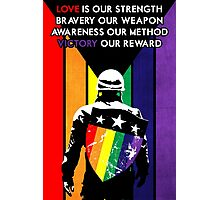 Rainbow Soldier (Love is Our Strength) Photographic Print