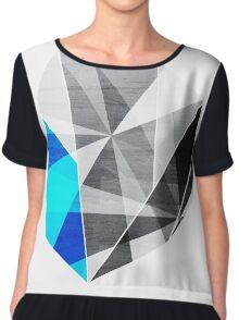 Graphite - Geometric Rock Chiffon Top