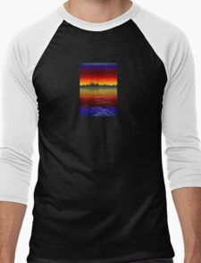 Toronto Skyline at Sunset Men's Baseball ¾ T-Shirt