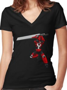 Tigrobot Mk2 Women's Fitted V-Neck T-Shirt