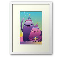 Birthday Monsters Framed Print