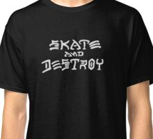 Skate and Destroy (White) Classic T-Shirt
