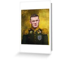Sir Wayne Rooney Earl of Manchester Greeting Card