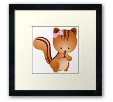 Cartoon squirrel Character Framed Print