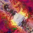 Shades of Red Abstract by Phil Perkins